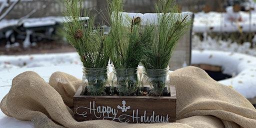 Holiday Mason Jar Centerpiece