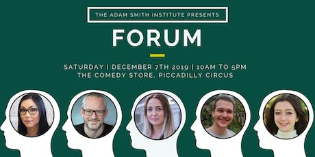 The Adam Smith Institute presents 'Forum 2019' tickets