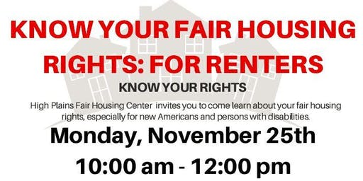 Fair Housing Rights For Renters - Fargo