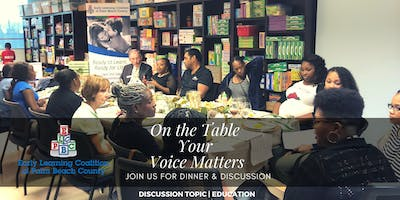 On The Table   Your Voice Matters -- Palm Springs, Florida