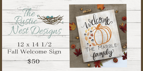 DIY Fall Welcome Sign tickets
