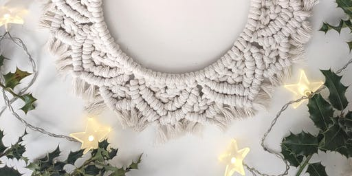 Macramé Christmas Wreath Workshop