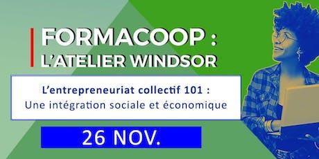 FormaCoop L'entrepreneuriat collectif: l'intégration sociale et économique tickets