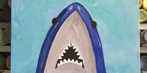 Daddy & Me Painting Party: JAWS!