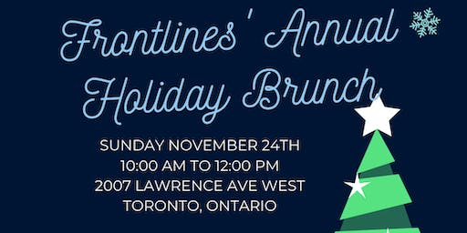 Frontlines Annual Holiday Brunch 2019