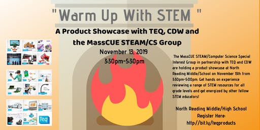 Warm Up With A STEM Product Showcase-MassCUE STEAM/CS Group