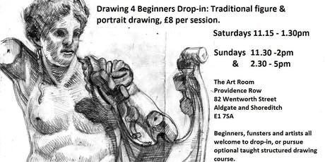 Drawing 4 Beginners Drop-in: traditional figure & portrait drawing tickets