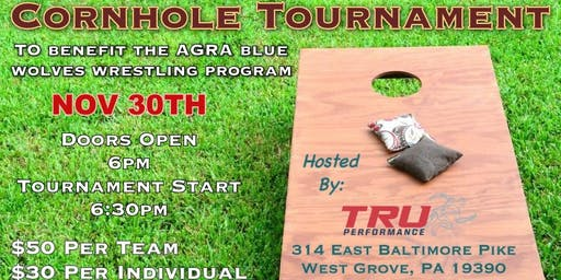 Cornhole Tournament to benefit AGRA Blue Wolves Wrestling