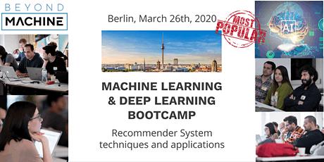 Machine Learning & Deep Learning Bootcamp: Building Recommender System- Launch with Datalyst tickets