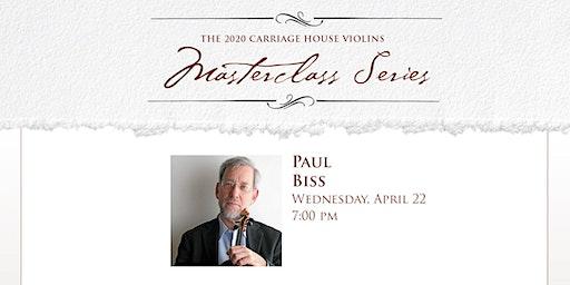 Paul Biss Violin Masterclass