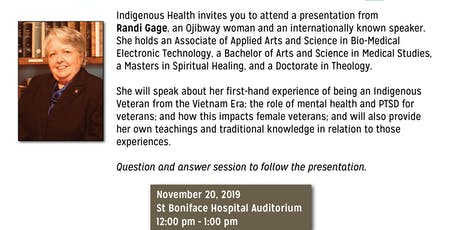 Indigenous Health Grand Rounds - Indigenous Veterans: Women in the military tickets