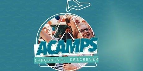 Acampamento de Jovens Shalom Acamps ingressos