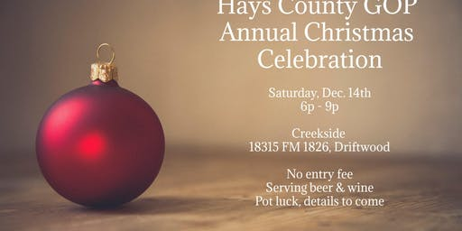 Hays County GOP Christmas Celebration