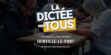 La dictée pour tous à Joinville-le-Pont billets