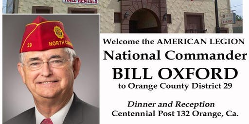 The American Legion National Commander Bill Oxford visits the OC