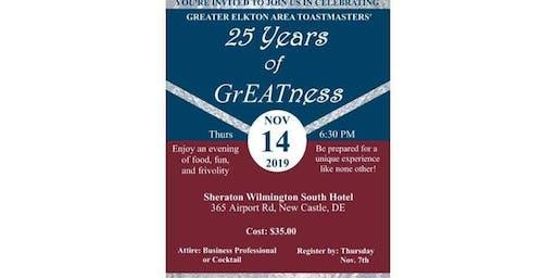 Greater Elkton Area Toastmasters 25th Anniversary Celebration