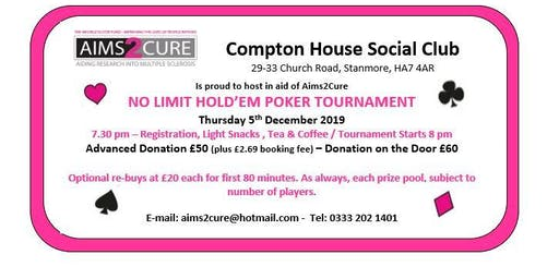 AIMS2CURE  NO LIMIT HOLD 'EM ANNUAL POKER TOURNAMENT