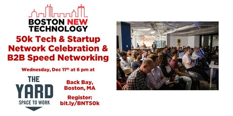 50k Tech & Startup Network Celebration & B2B Speed Networking + Coat Drive tickets