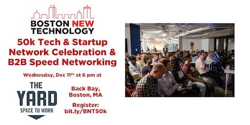 50k Tech & Startup Network Celebration & B2B Speed Networking + Coat Drive