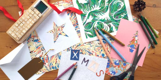 Christmas card making workshop with Isabella Mitchell at SAMPLE Christmas