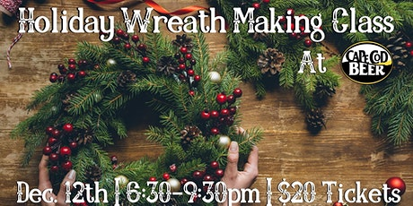 SOLD OUT! Holiday Wreath Making Class at Cape Cod Beer tickets
