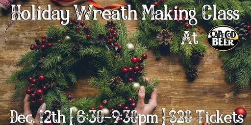 SOLD OUT! Holiday Wreath Making Class at Cape Cod Beer
