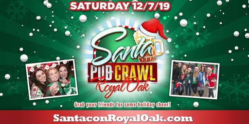 Santa Pub Crawl 2019 - Royal Oak