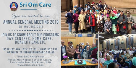 Sri Om Care - Annual General Meeting 2019 tickets