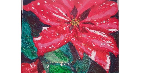 Poinsettia Painted with Palette Knives Presented by The Artists' Garden