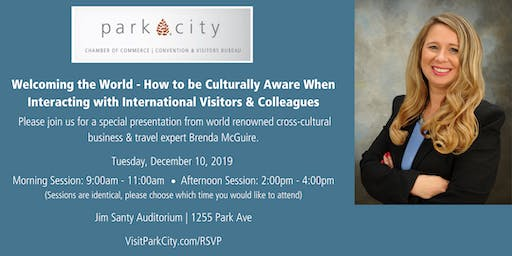 Welcoming the World - How to be Culturally Aware When Interacting with International Visitors & Colleagues