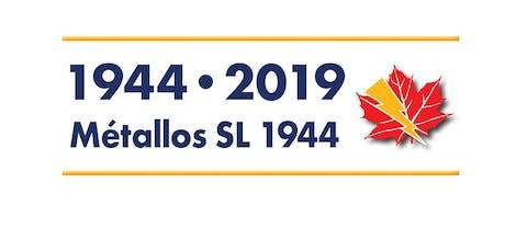 Unité 604, célébrations du 75e anniv. - Unit 604 75th  Ann. Celebration billets