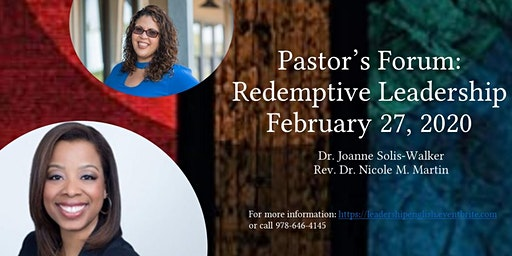 Pastor's Forum: Redemptive Leadership