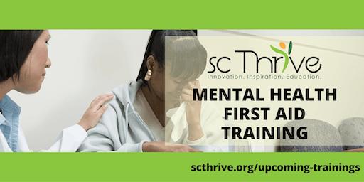 Adult Mental Health First Aid: Spartanburg 12.6.19