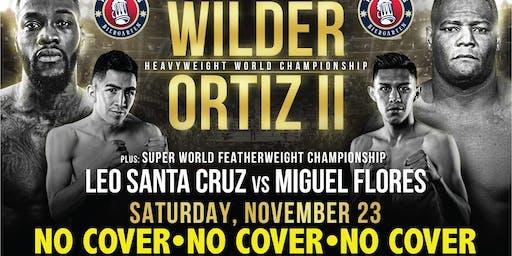 No Cover: Wilder vs. Ortiz at Tysons Biergarten