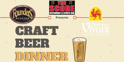 The Score Craft Beer Dinner
