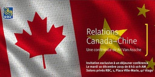 Déjeuner-conférence : Relations Canada-Chine