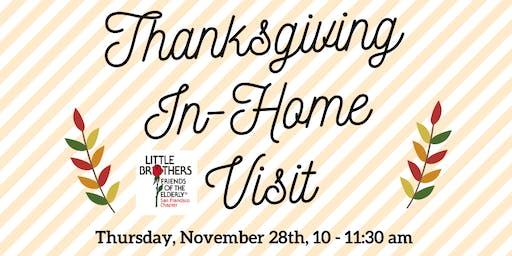 Visit an elder on Thanksgiving morning!