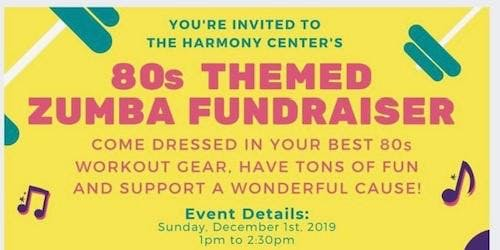 80s themed fundraiser Zumba Party