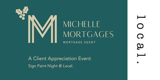 Paint Night - Client Appreciation -Michelle Mortgages