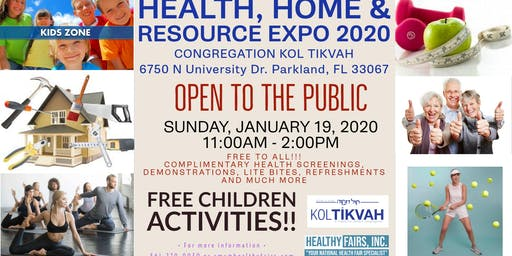 Health, Home and Resource Expo  at Congregation Kol Tikvah 2020
