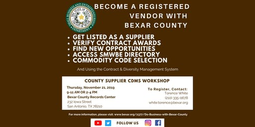 Bexar County SMWBE CDMS Workshop