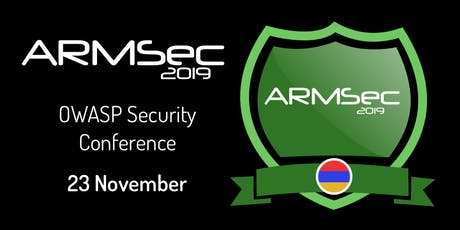 ArmSec 2019 Security Conference tickets