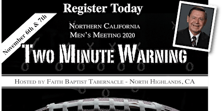 TWO MINUTE WARNING, Men's Meeting 2020 tickets
