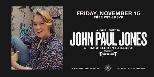 John Paul Jones of Bachelor In Paradise at Magnolia Cleveland