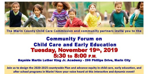 Community Forum on Child Care and Early Education