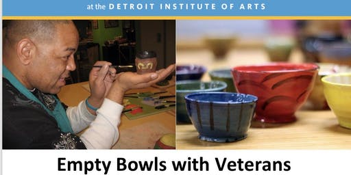 Empty Bowls Detroit xDetroit Institute of Arts  Bowl Painting for Veterans
