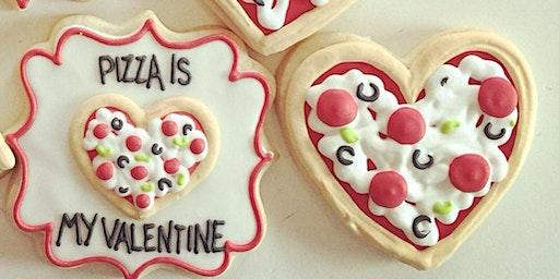 Valentine pizza fun