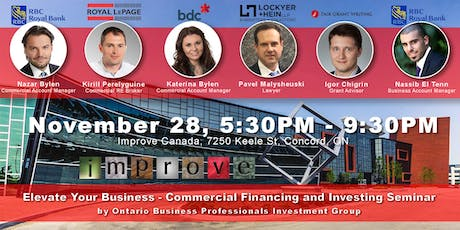 Elevate Your Business - Commercial Financing and Investing Seminar tickets