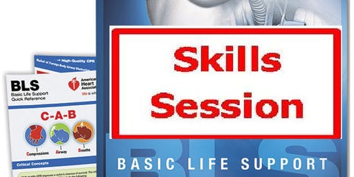 AHA BLS Skills Session January 31, 2020 4 PM to 6 PM at Saving American Hearts, Inc. 6165 Lehman Drive Suite 202 Colorado Springs, Colorado 80918.