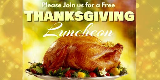 Join Us for Our Thanksgiving Luncheon!